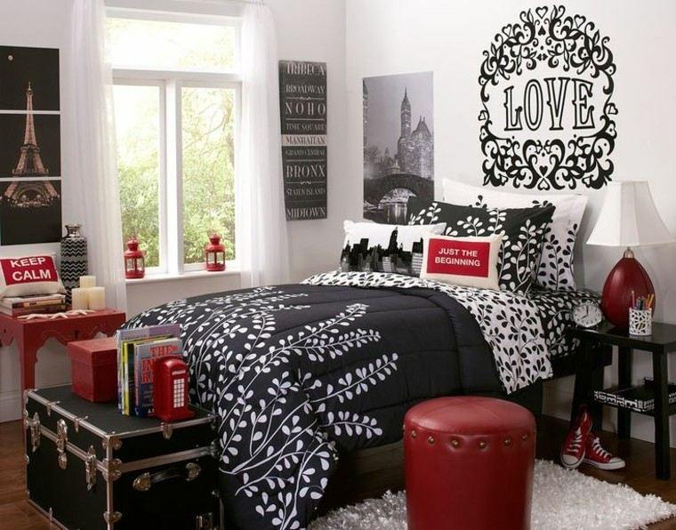 rojo negro estilo ventanas paredes
