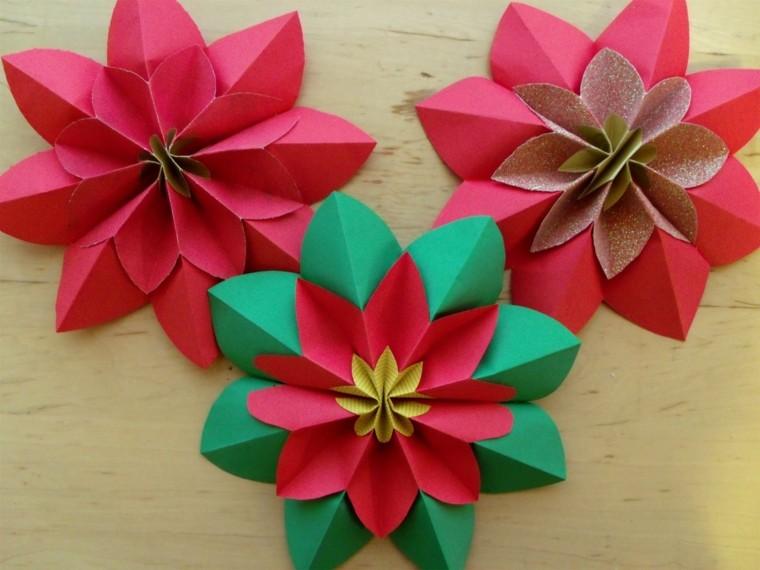 rojos detalles verde madera flores