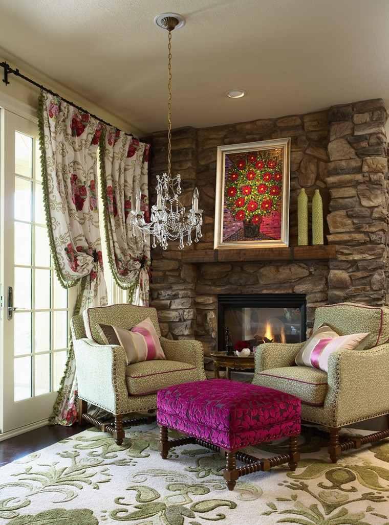 rosa decorado textiles asientos colorido