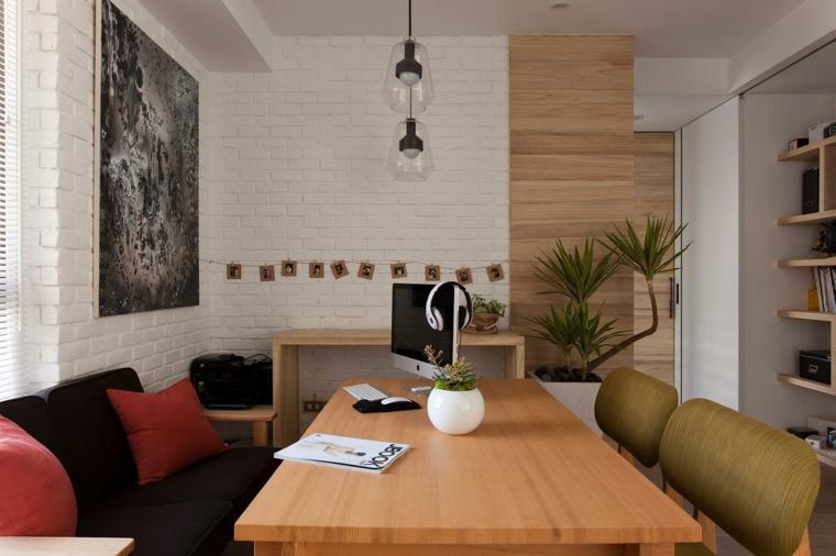 diseño sala reuniones mesa madera