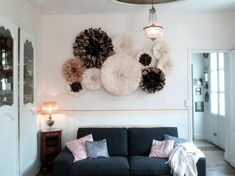 salon adornos redondos paredes