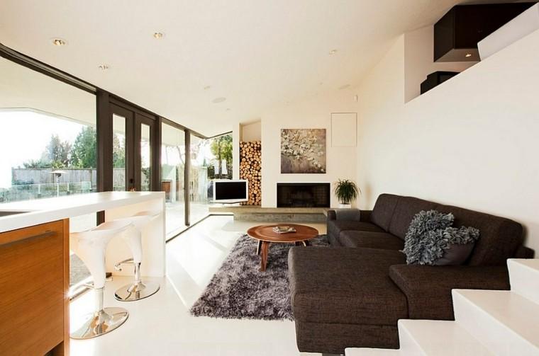 salon amplio especial moderno madera