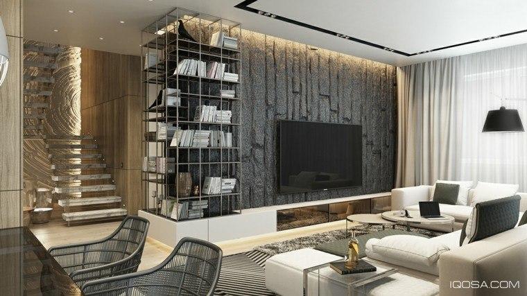 salon moderno casa de campo