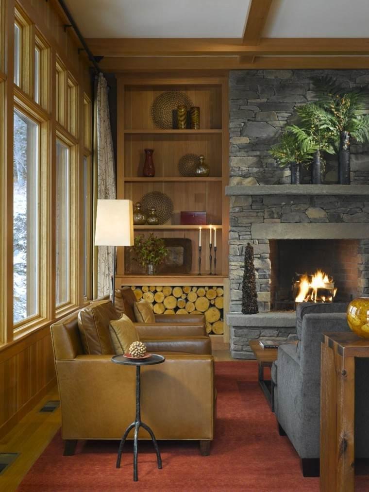 salon casa decoracion fuego lampara