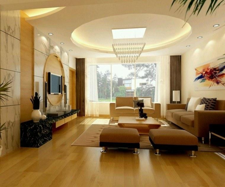 salon diseño moderno techo redondo