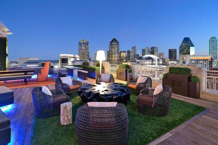 salon exteriores diseño moderno ciudad