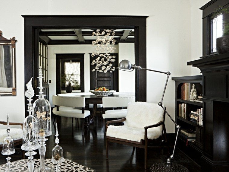 Blanco y negro 50 ideas para el sal n moderno y elegante for Salon pequeno moderno