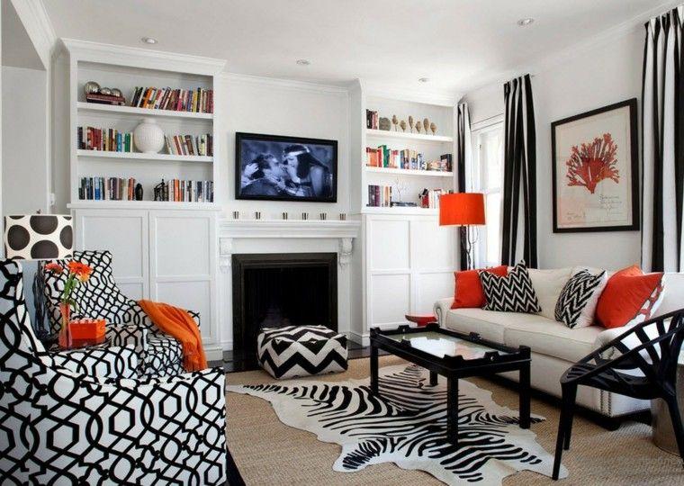 Blanco y negro 50 ideas para el sal n moderno y elegante - Color para el salon ...