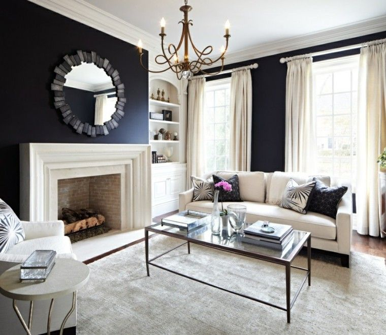 Black And Gold Living Room Images: Blanco Y Negro: 50 Ideas Para El Salón Moderno Y Elegante