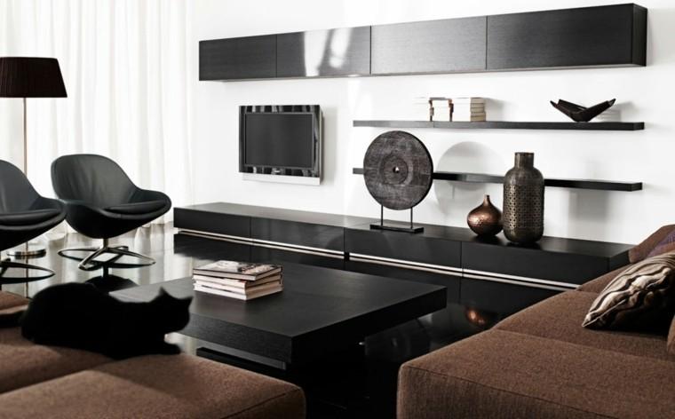 Blanco y negro 50 ideas para el sal n moderno y elegante - Salones elegantes y modernos ...