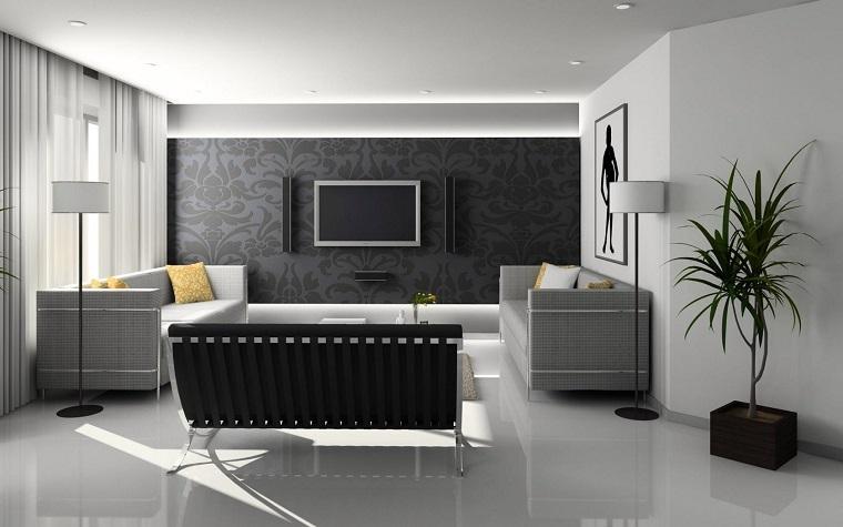 salon original blanco negro gris