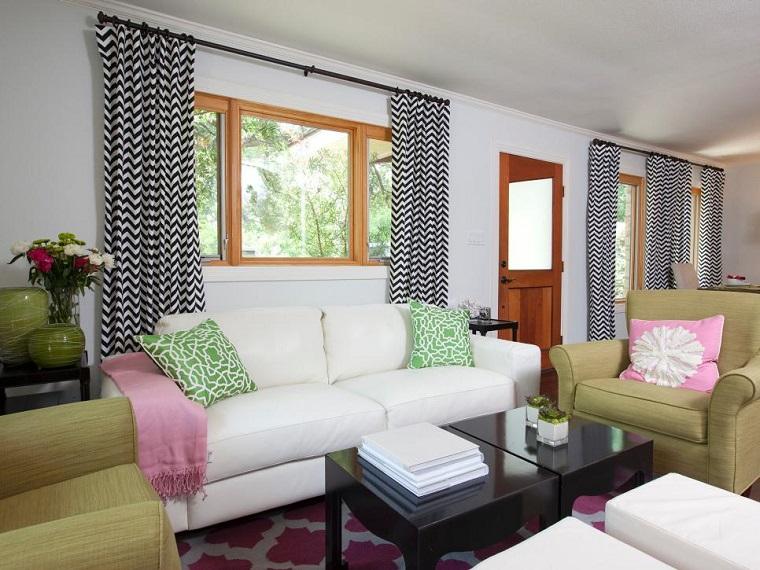 Fotos originales de decoraci n de salones peque os - Cortinas para salones pequenos ...