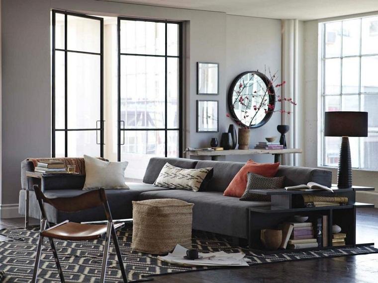 Fotos originales de decoraci n de salones peque os - Salon sofa gris ...