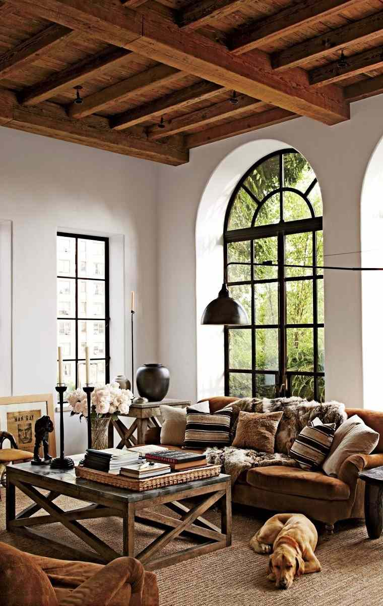 Salones rusticos 50 ideas perfectas para casas de campo - Ideas decoracion salon ...