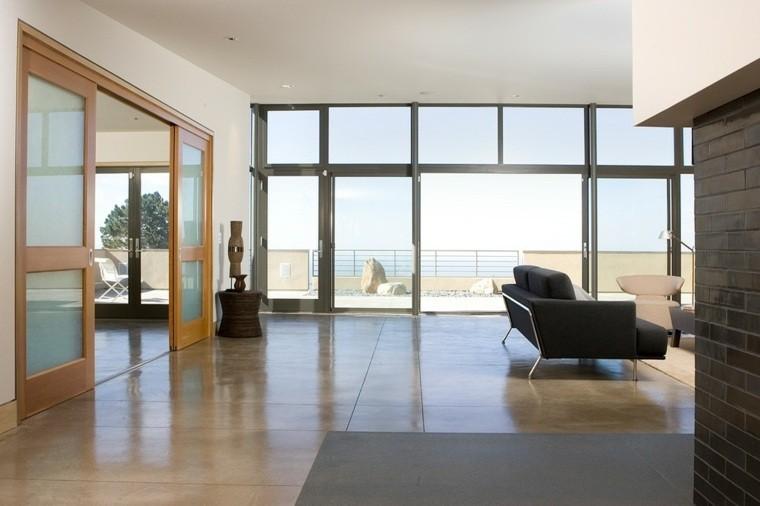 salon terraza suelo hormigón pulido
