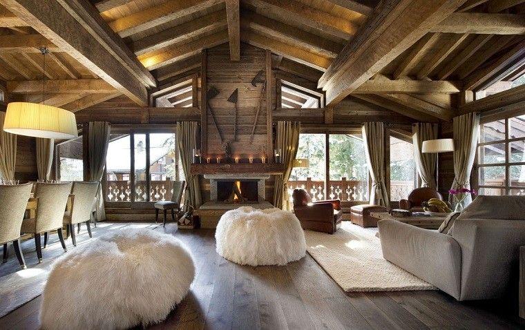 Salones rusticos 50 ideas perfectas para casas de campo - Salones rusticos fotos ...