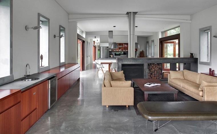 salones rusticos combinacion estilo idustrial ideas