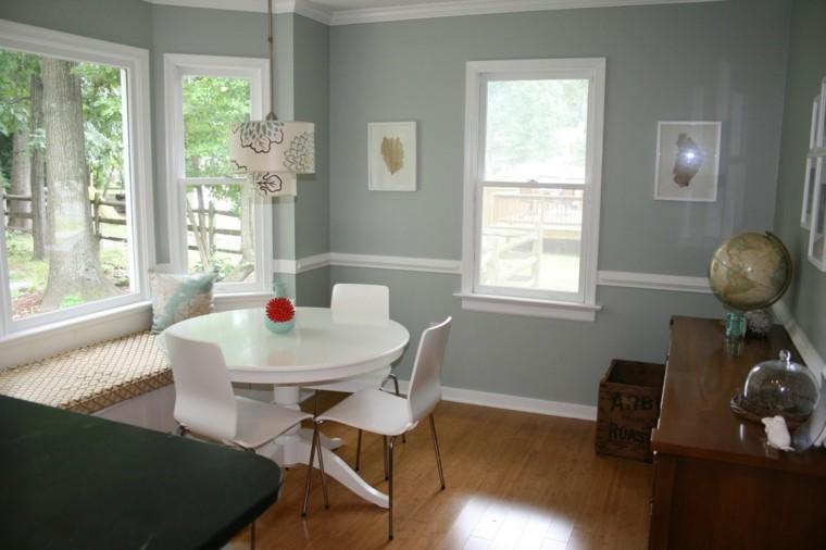salón comedor color gris paloma