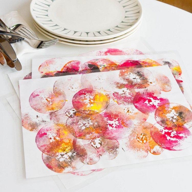 servilletas tarjetas diseño rosa platos