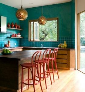 Cocinas de dise o 25 ideas sensacionales for Sillas de cocina rojas