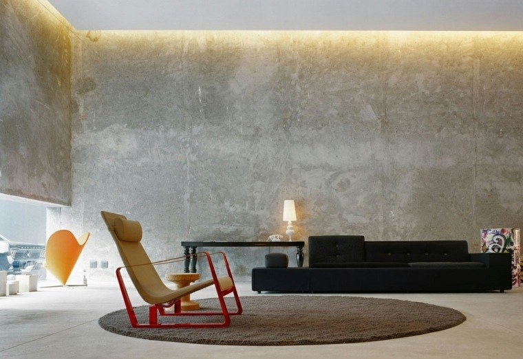 Cemento como tendencia de decoraci n para interiores - Pared de ladrillo blanco ...