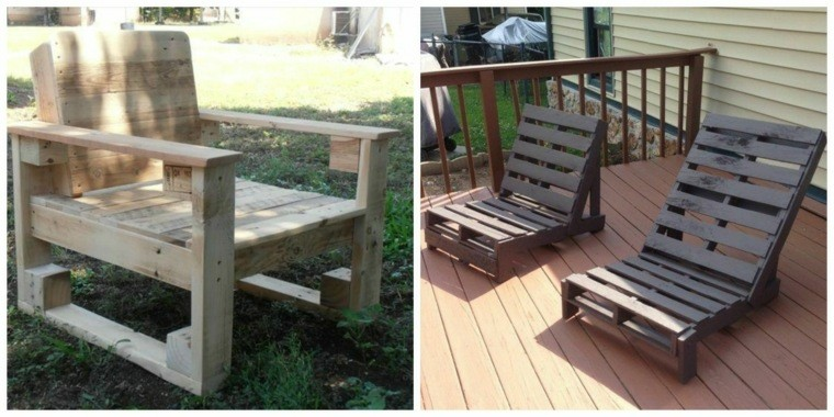 Cajas de madera usadas para fabricar muebles 75 ideas for Muebles de terraza con palets