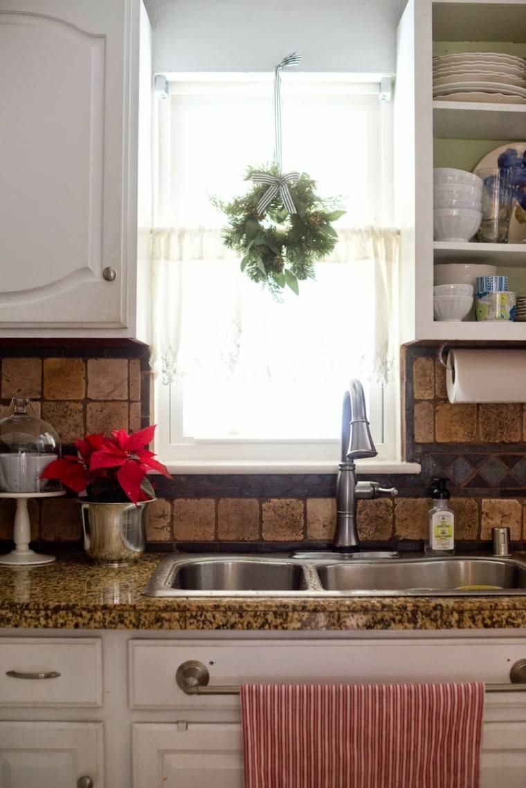simple cocina estante toalla estantes