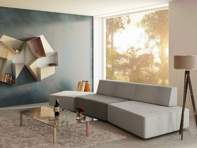 sofa diseño salon creativo claro geometrico