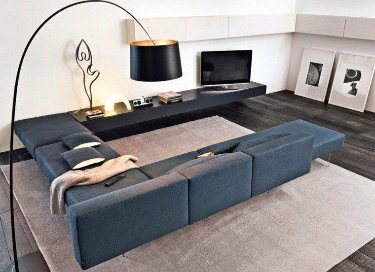 sofa diseño salon diferente espacio lampara