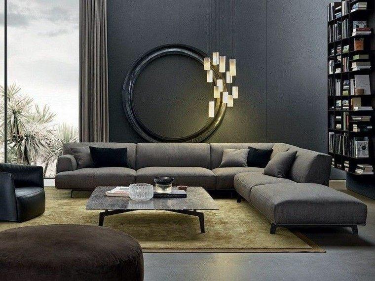sofa diseño salon diferente lamparas calido