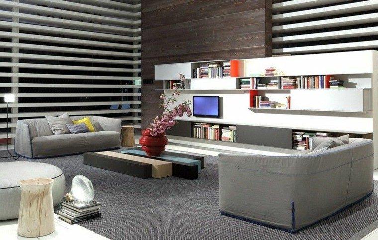 sofa diseño salon flores cojines horizontal