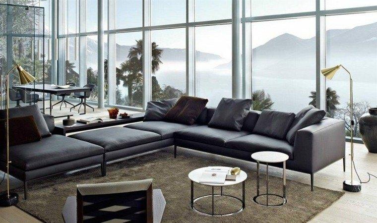 sofa diseño salon geometrico montañas mesa