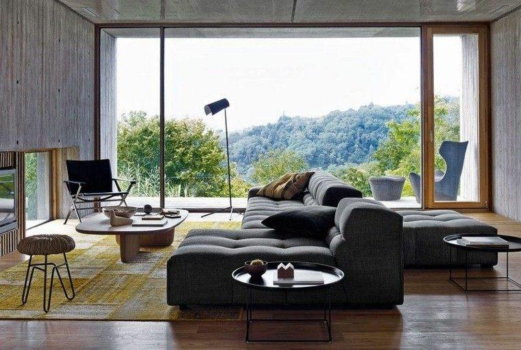 sofa diseño salon plantas accesorios silla