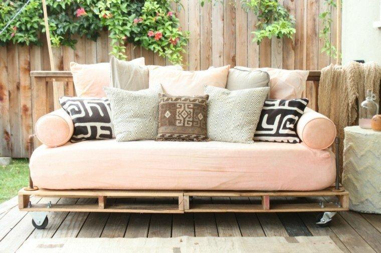 sofa jardin color salmon