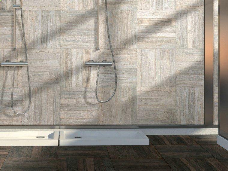 suelo baldosas imita madera bano aire libre ideas