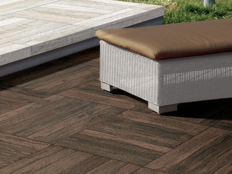 suelo baldosas imita madera colores claros oscuros ideas - Baldosas Imitacion Madera
