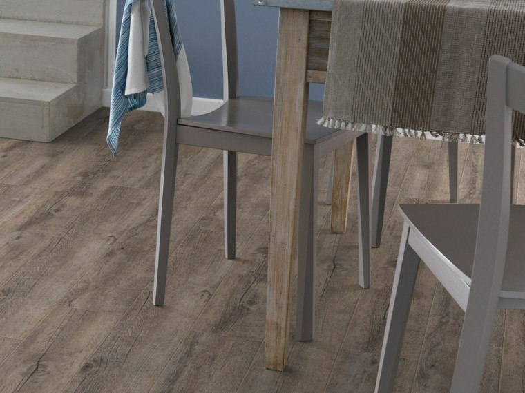 suelo baldosas imita madera comedor moderno ideas