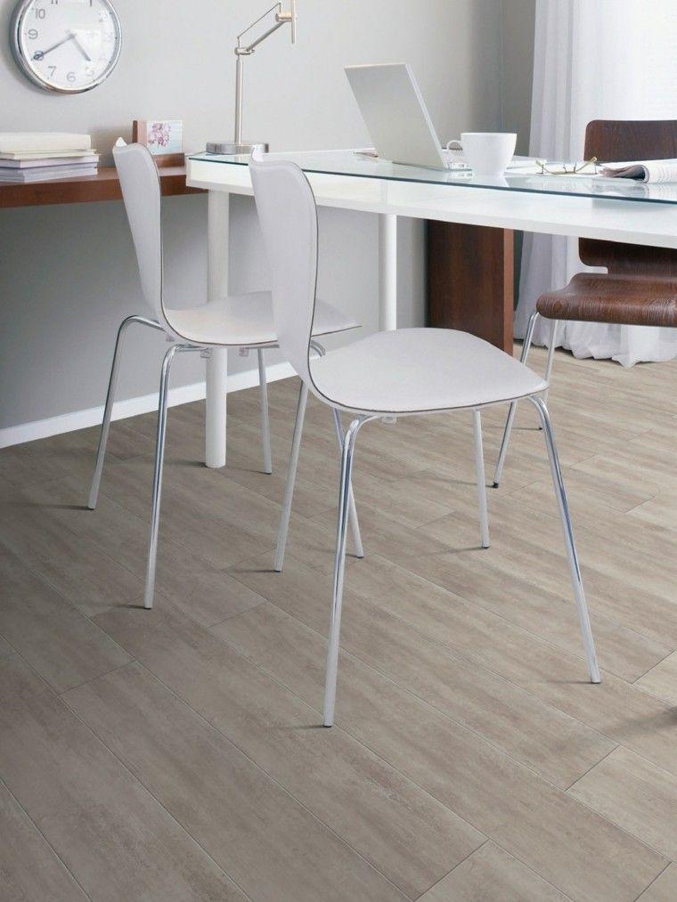suelo baldosas imita madera oficina moderna ideas - Baldosas Imitacion Madera