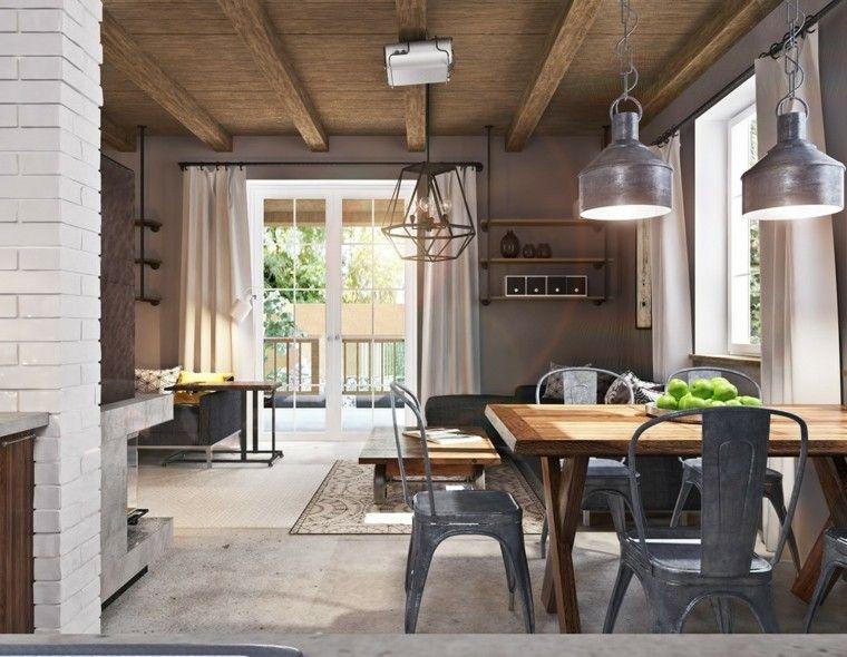 suelo cemento techo madera ladrillo