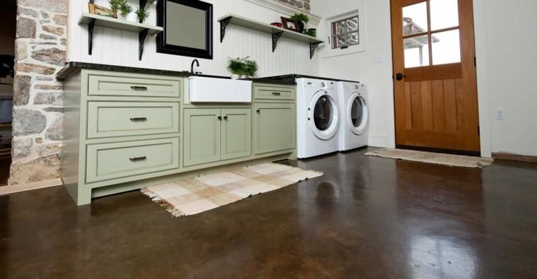 suelo cocina hormigón color marron