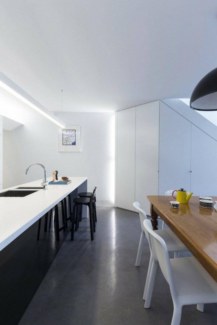 Cemento como tendencia de decoraci n para interiores - Cocina suelo gris ...