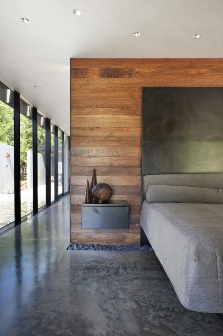 suelo dormitorio concreto pulido piedras