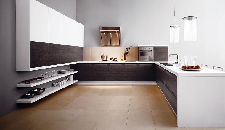 suelo madera estilo estantes frutas