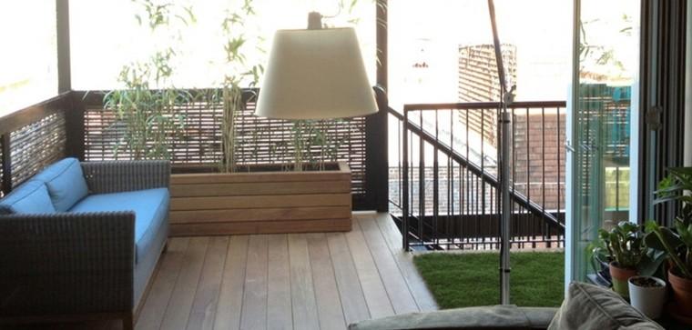 suelo terraza cesped artificial madera