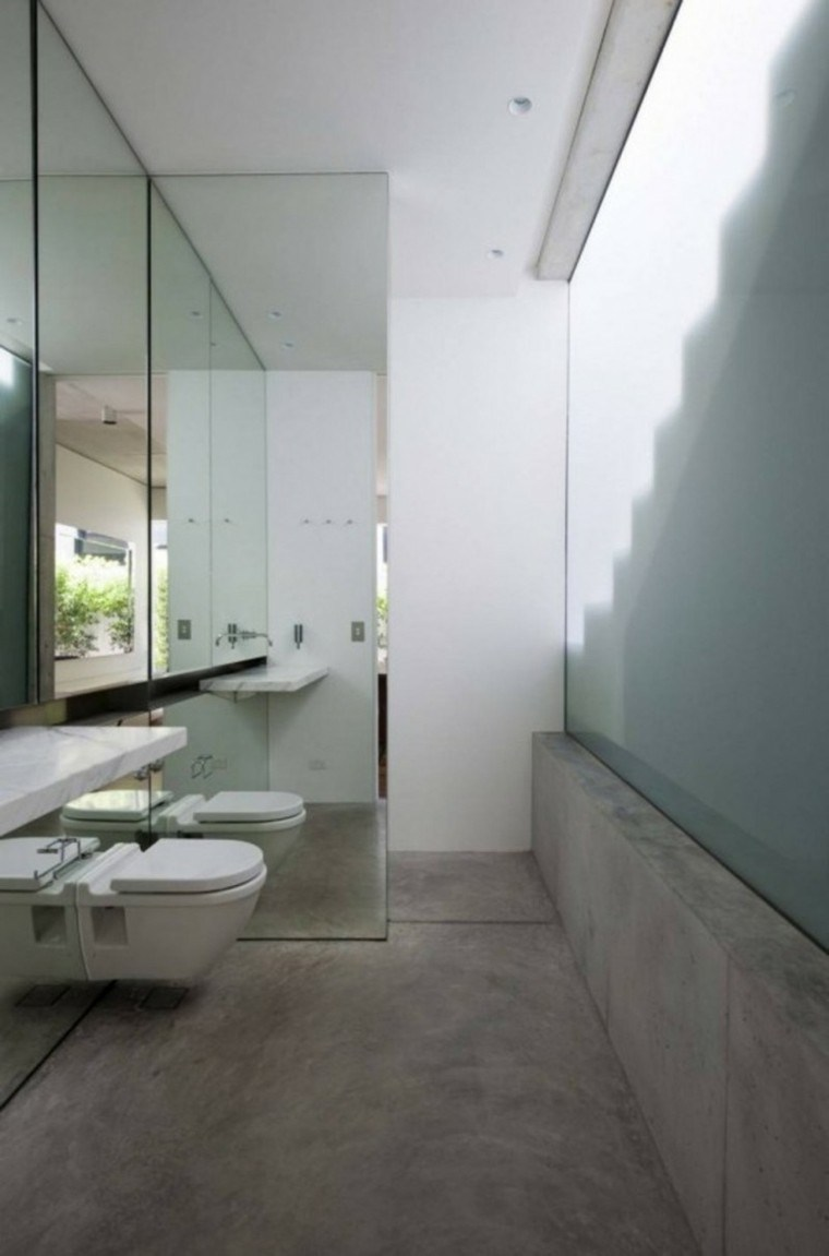 suelo cuarto baño cemento pulido