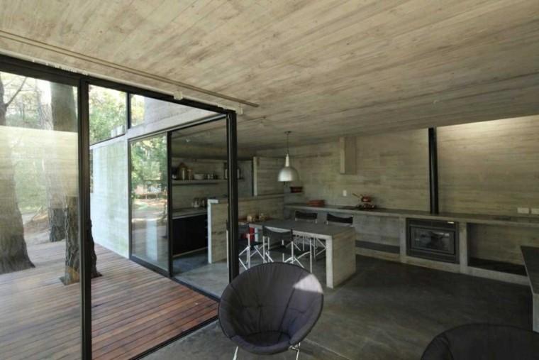 suelo paredes techo cemento liso