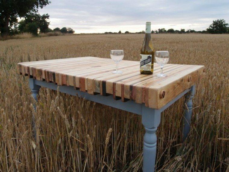 superficie mesa madera palets