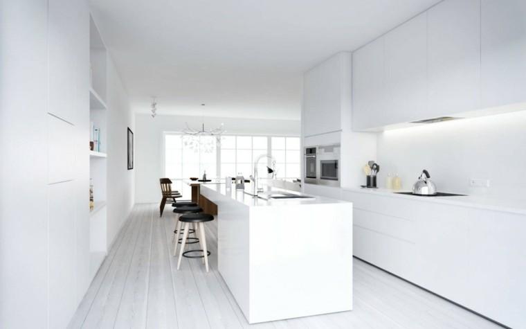 taburetes minimalista estilo cocina negro