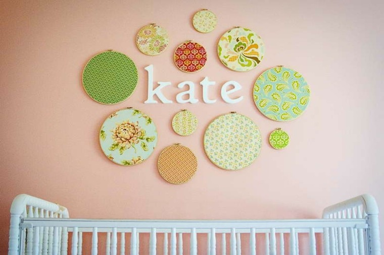 tapices pared nombre bebe kate