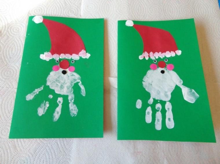 tarjetas navidad cartas santa verdes